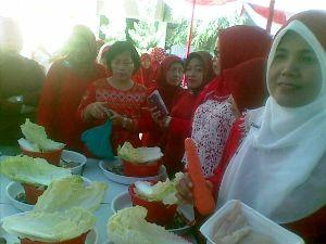 Lomba masak HUT RI 69 di SMPN 1 Bekasi