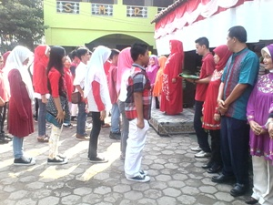 pelantikan MPK SMPN 1 Kota Bekasi Sebagai Puncak Kegiatan HUT RI Ke-69