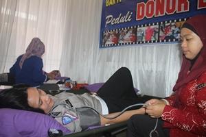 Peduli Sosial Samsat Kota Bekasi Adakan Bakti Donor Darah