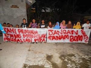 Masyarakat Buni Bakti Demo Pertanyakan Proyek  PT.PGN-cr19
