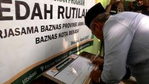 Wali Kota Bekasi Resmikan Pembangunan Rutilahu