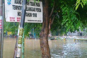 Air kiriman Dari Bogor Rendam Perumahan Bekasi