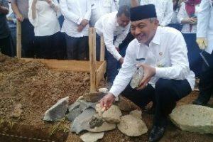 Ahmad Syaikhu Hadiri Peletakan Batu Pertama Pembangunan SMKN 15 Kota Bekasi