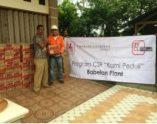 Cikarang Listrindo Turunkan Bantuan Banjir di Desa Buni Bakti