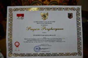 Kemendagri Beri Penghargaan ke Pemkot Bekasi