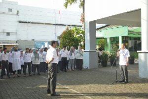 Pj. Wali Kota Pimpin Apel Pagi Dinas Kesehatan