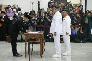 Wali Kota Bekasi dan Wakil Wali Kota Bekasi Resmi Di Lantik