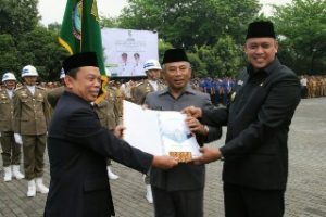 Apel Gabungan ASN Dan Pisah Sambut Pj. Wali Kota Bekasi