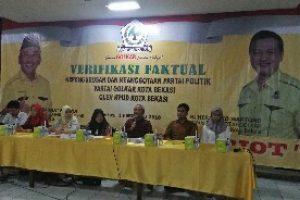 Verifikasi Partai Golkar Kota Bekasi Memenuhi Syarat