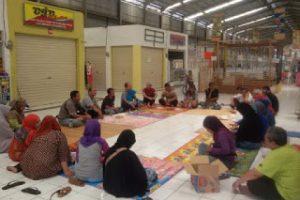 Pemilik Kios Pasar Bersih Tanyakan Uang Siluman Kepada PT Adi Cipta Griya Sejati