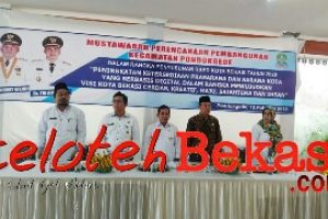 Musrenbang Pondok Gede,Camat Mardani Realisasi PBB Melebihi Target