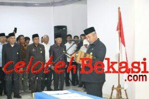 Walikota Lantik 4 Pejabat Pemkot Bekasi