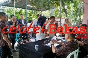 Warga Vila Mas Indah Kelurahan Harapan Baru Antusias Datang ke TPS sukseskan Pemilu