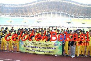 Wali Kota Bekasi Lepas Kontingen Atlet POPWILDA Jawa Barat 2019