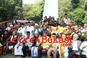 Ribuan Masyarakat Lintas Agama Silaturahmi di Monumen Perjuangan Rakyat Bekasi