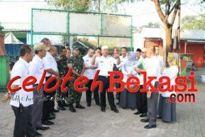 Wali Kota Bekasi Kunjungi SDN Bojong Rawalumbu III