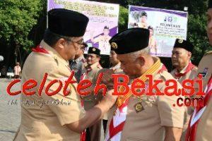 Hari Pramuka ke 58, Wali Kota dan Wakil Wali Kota Dilantik Jadi Ketua dan Wakil Ketua Majelis Pembimbing Cabang Gerakan Pramuka Kota Bekasi