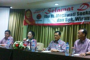Megawati Gelar Konferensi Pers di Bekasi