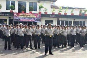 Polres Bekasi Kota  Apel Persiapan Pengamanan May Day