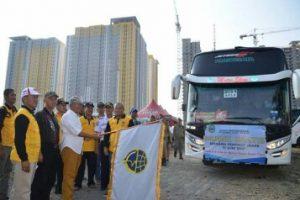 Wali Kota Bekasi Lepas 40 Bus Mudik Gratis