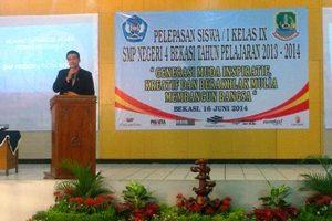 SMP Negeri 4 Kota Bekasi adakan Perpisahan Kelas IX 2014-2015