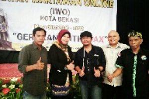 Pelantikan IWO Kota Bekasi, Jangan Produksi Berita Hoax