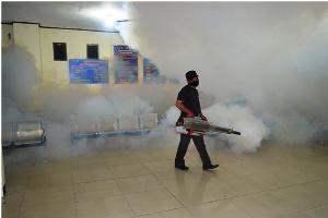 Cegah Penyakit DBD, SAMSAT Kota Bekasi  Adakan Fogging